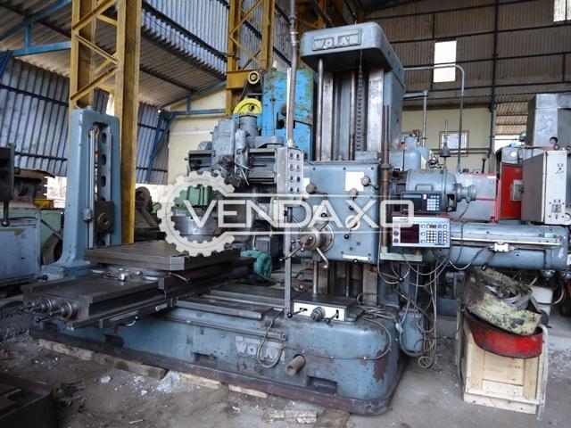 Wotan B 85 Horizontal Boring Machine - Table Size : 1050mm x 980mm