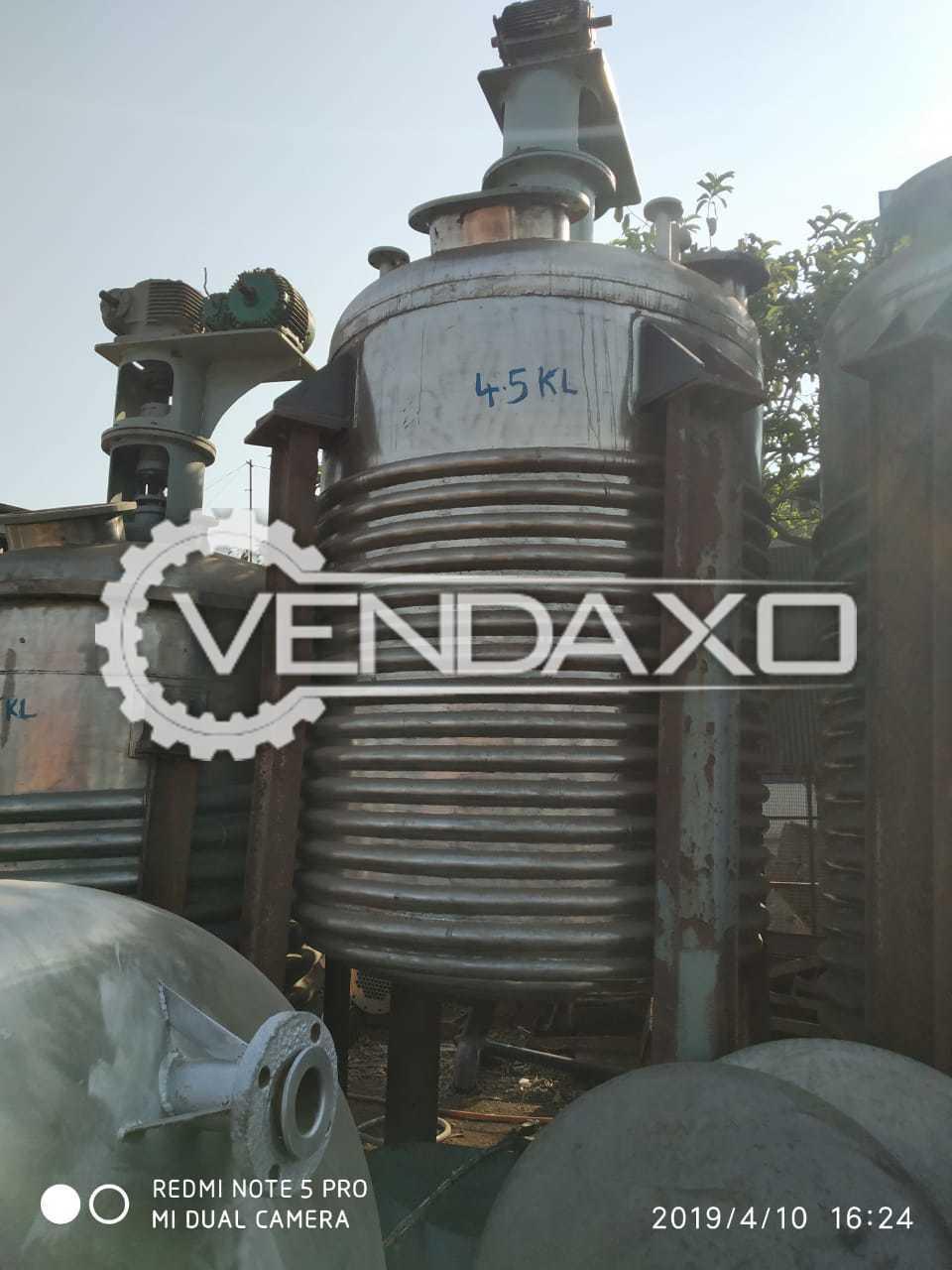 Indian Make Reactor - 4.5 KL
