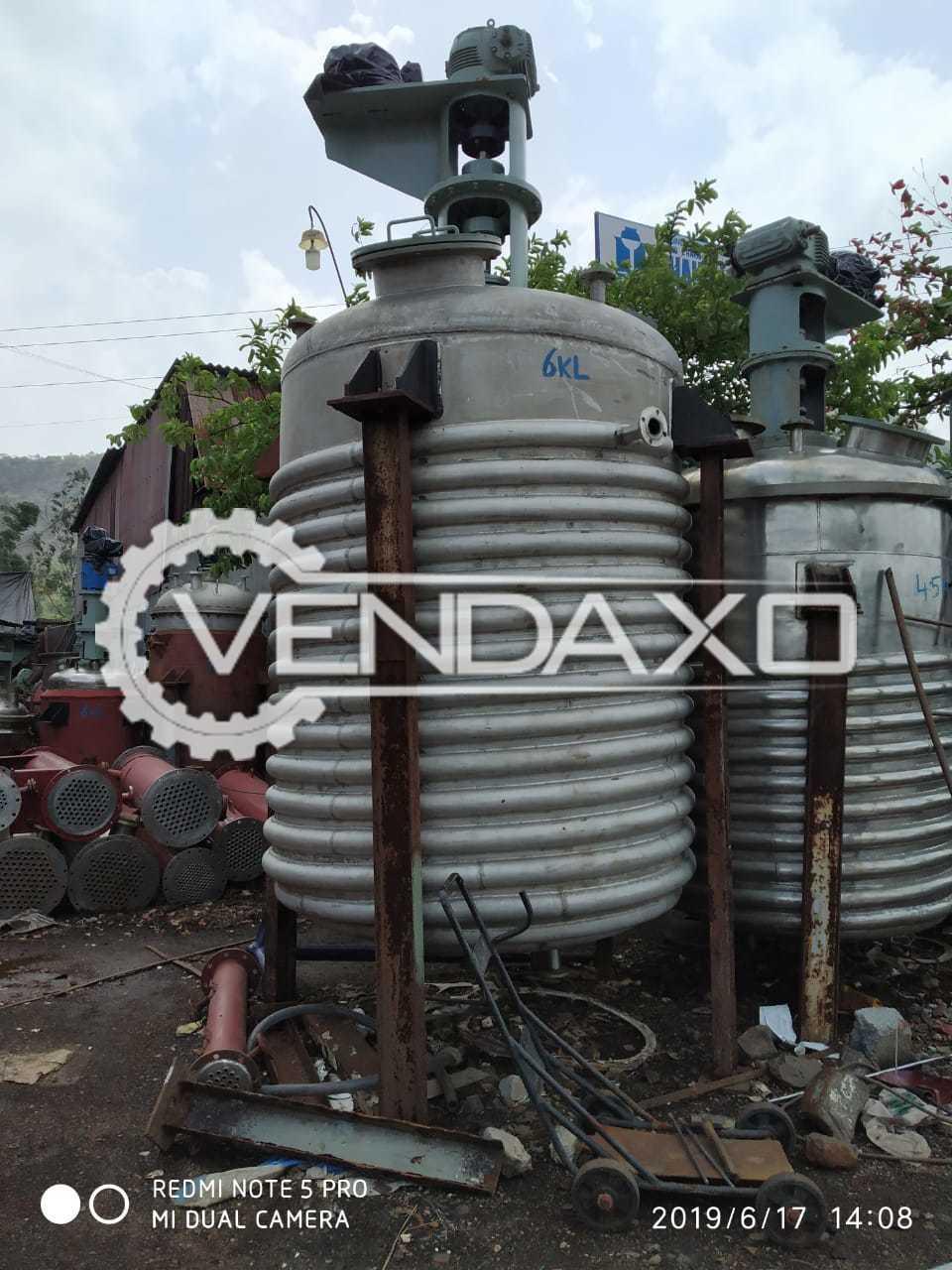 Indian Make Reactor - 6 KL