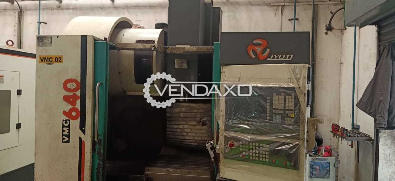 Jyoti VMC 640 CNC Vertical Machining Center - Table Size - 800 x 500 mm