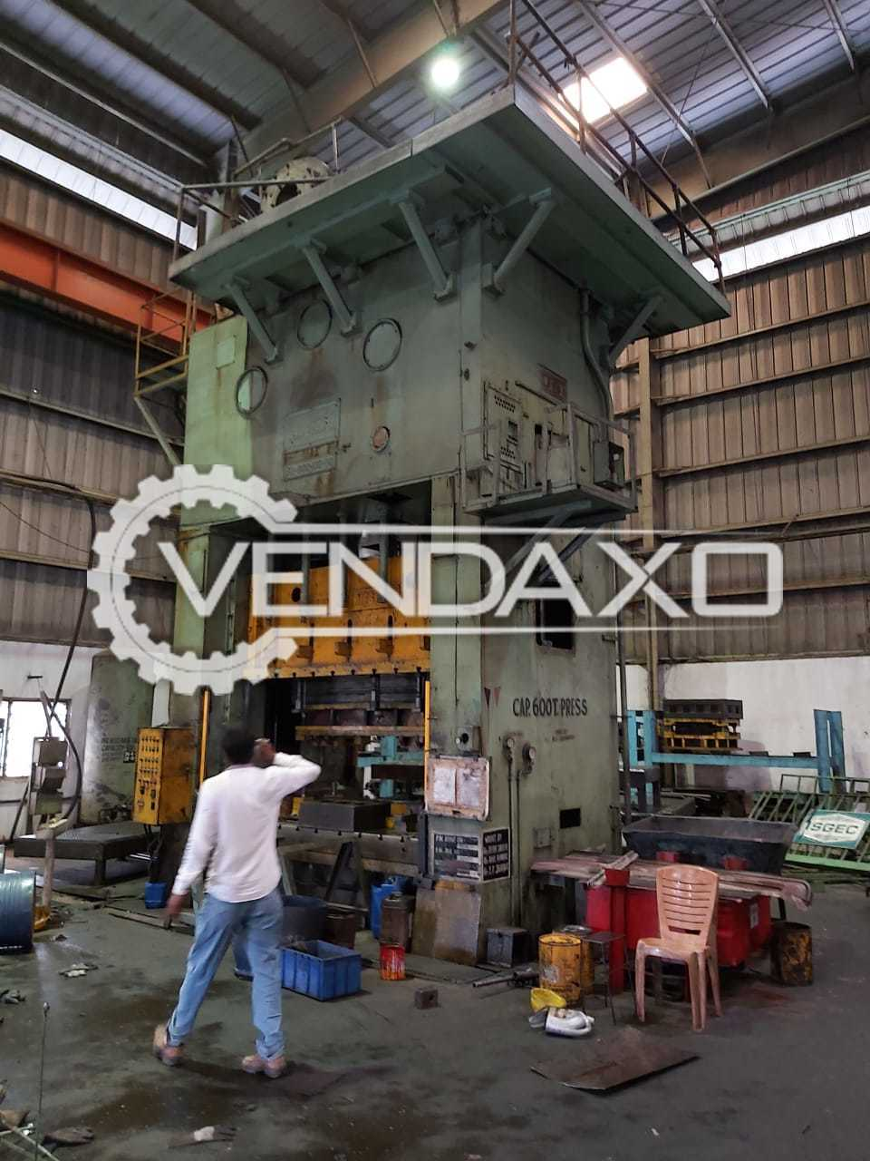 USI Make Hydraulic Press Machine - 600 Ton