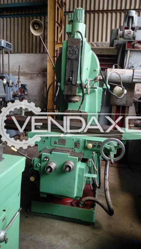 Russian No.3 Vertical Milling Machine - Table Size : 1300 x 320 mm