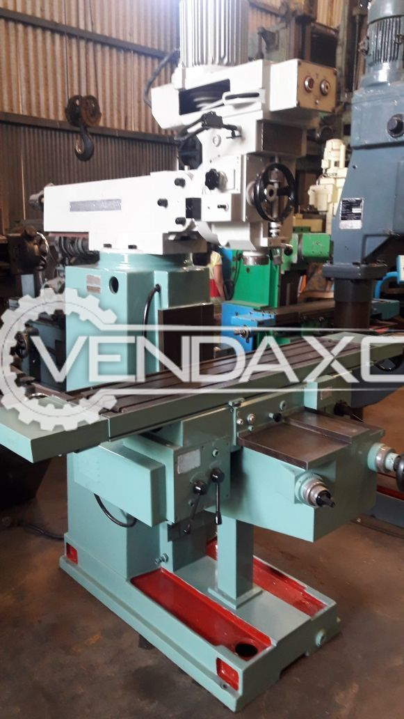 TOS FNK25 Turret Milling Machine - Table Size : 1250 x 290 mm