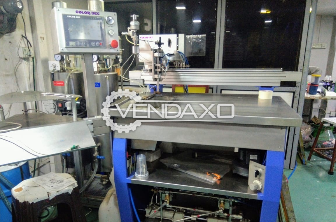 Colordec Script/ X Y Doming Machine - Used For Only 10 Hour