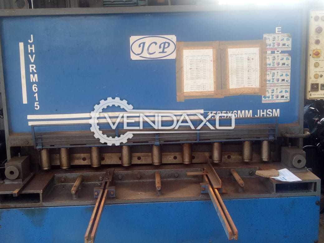 JCP JHVRM-615 Hydraulic Shearing Machine - 1525mm X 6mm
