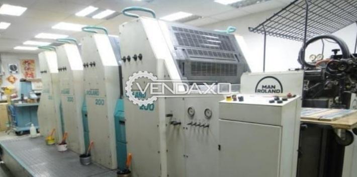 Man Roland200 Offset Printing Machine - 520 x 740 mm, 4 Color