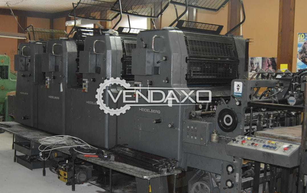 Heidelberg MOV Offset Printing Machine - 18 x 25 Inch, 4 Color