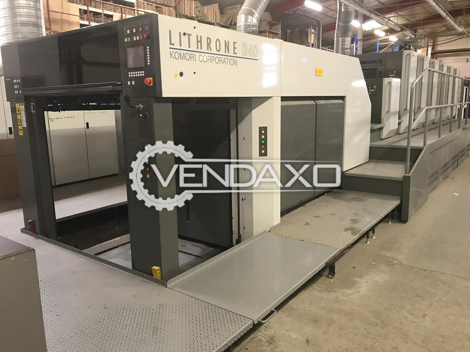 Komori Lithrone G640 Offset Printing Machine - 28 x 40 Inch, 6 Color