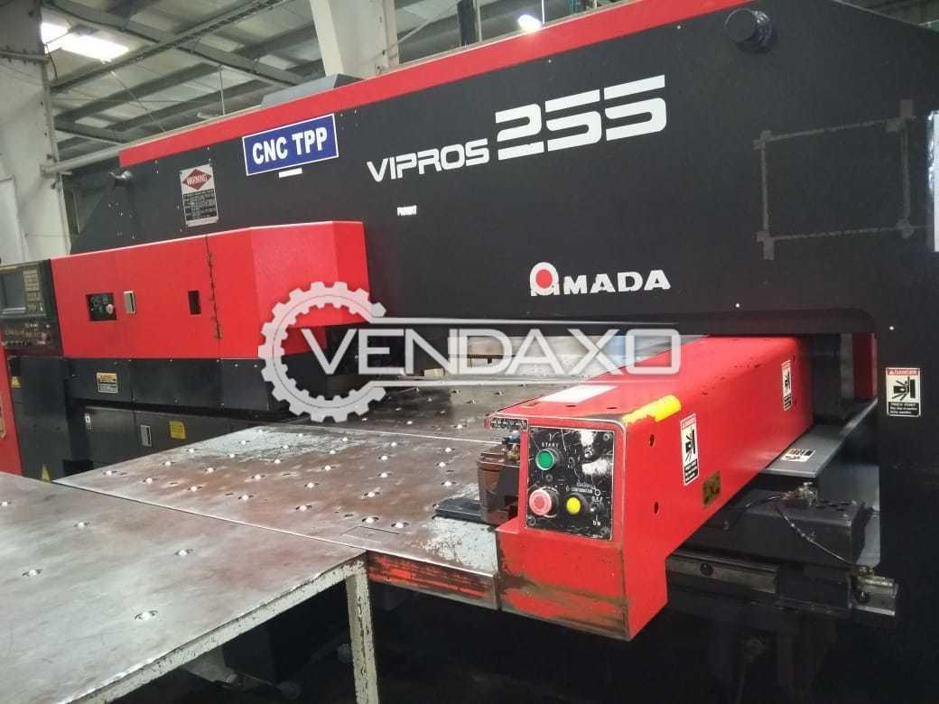 Used AMADA VIPROS255 CNC Turret Punching Machine - 20 Ton