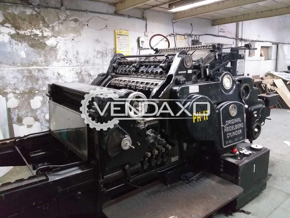 Heidelberg Cylinder Die Cutter Machine - Size - 22 x 32 Inch