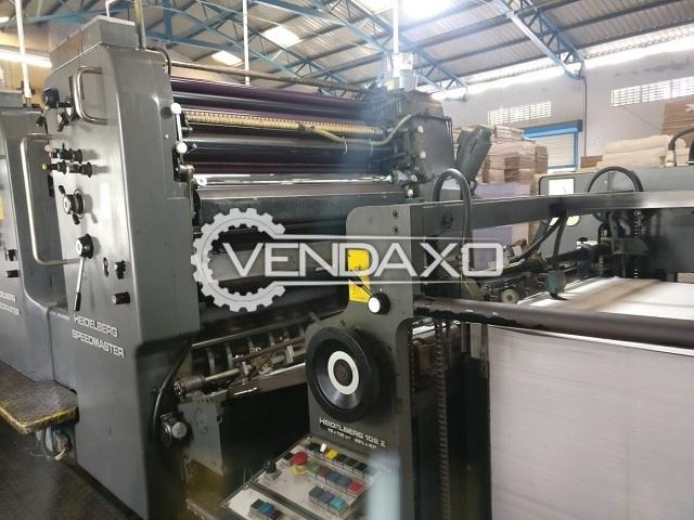Heidelberg SM 102Z Offset Printing Machine - 28 x 40 Inch, 2 Color