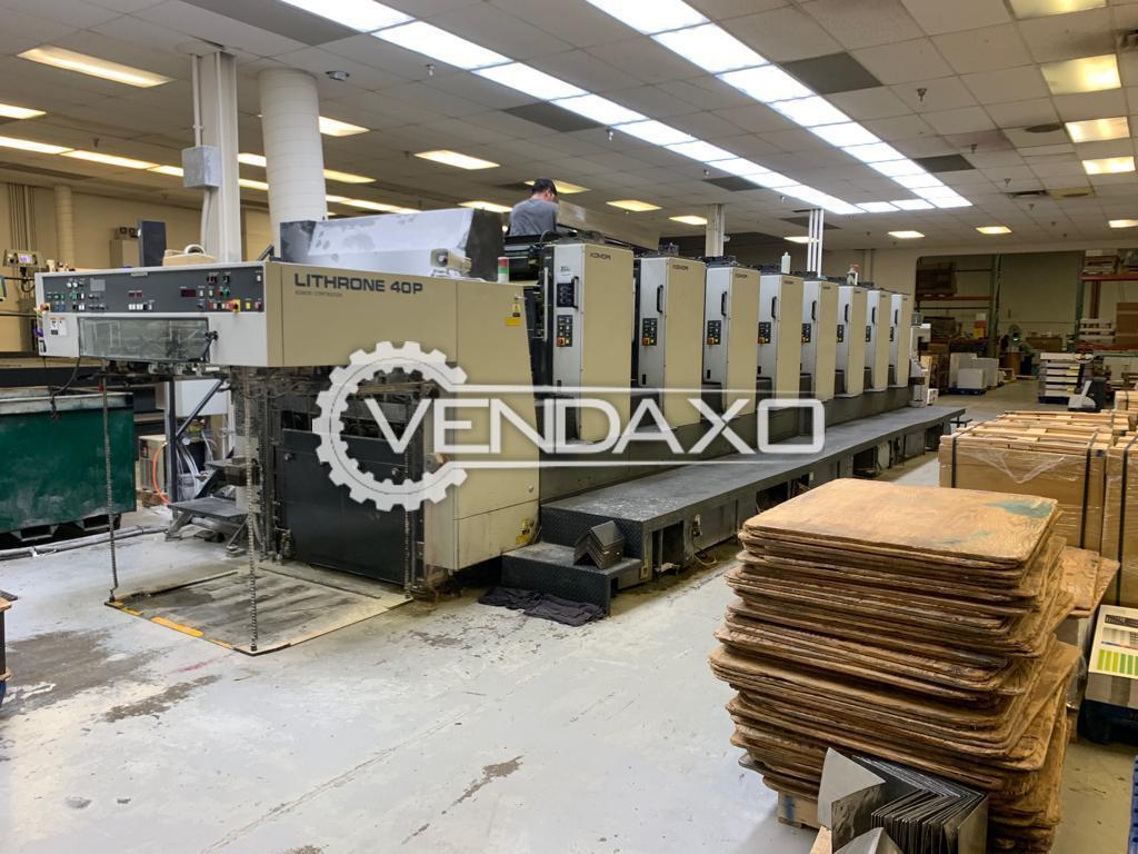 Komori Lithrone 840 Offset Printing Machine - 28 x 40 Inch, 8 Color