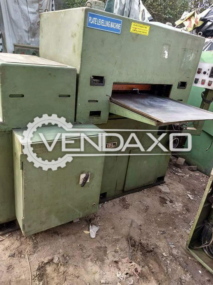 Indian Make Plate Levelling Machine - 750 x 7mm