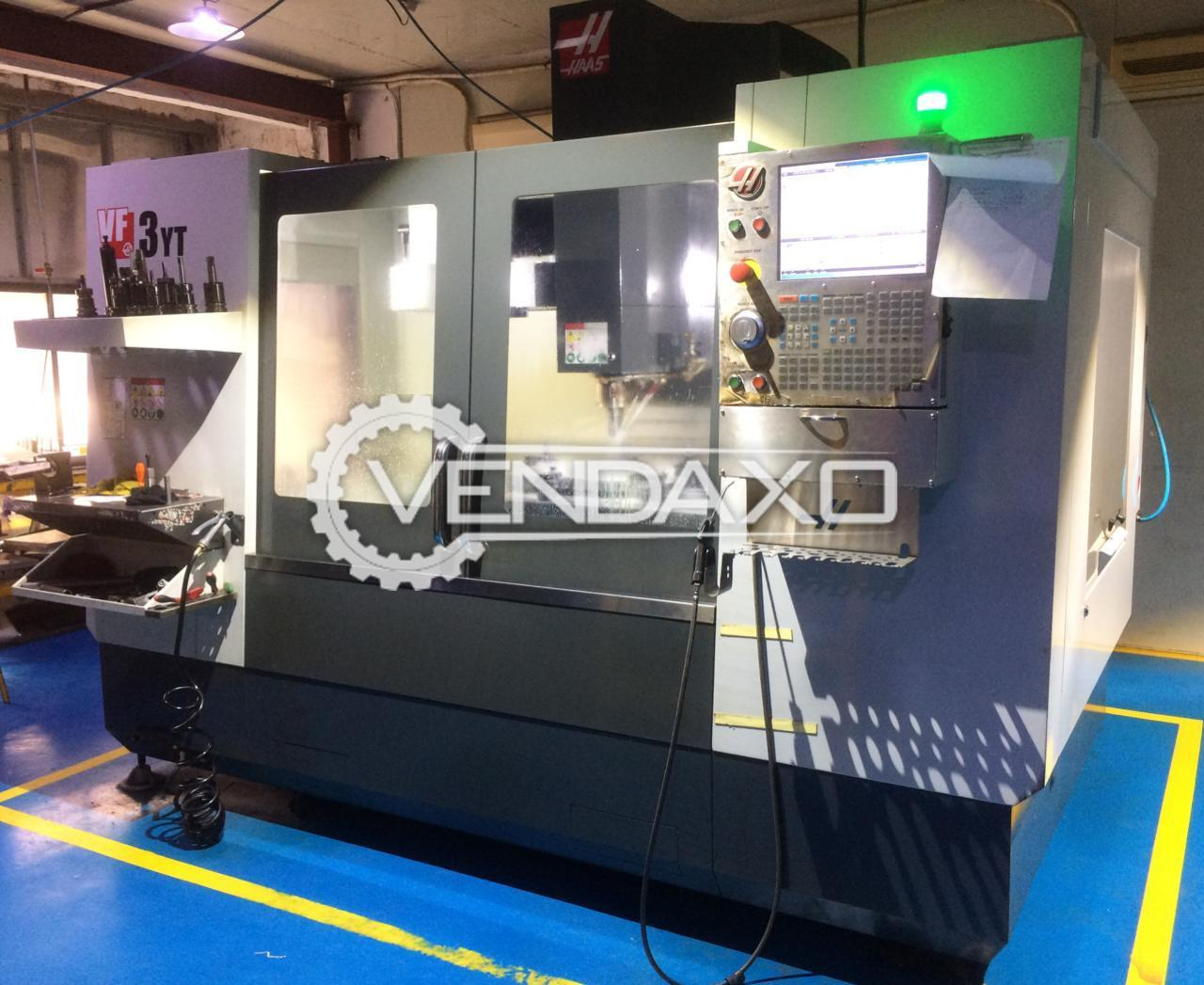 HAAS VF 3YT CNC Vertical Machining Center - Table Size : 1372 x 635 mm