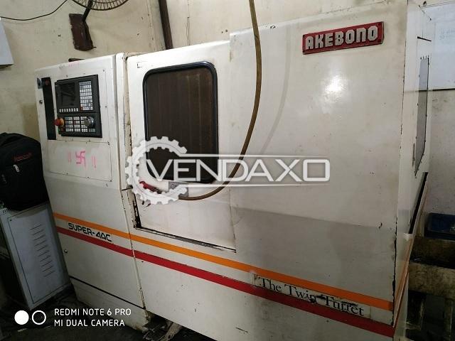 Akebono Super-4AC CNC Lathe Machine - 4 Axis