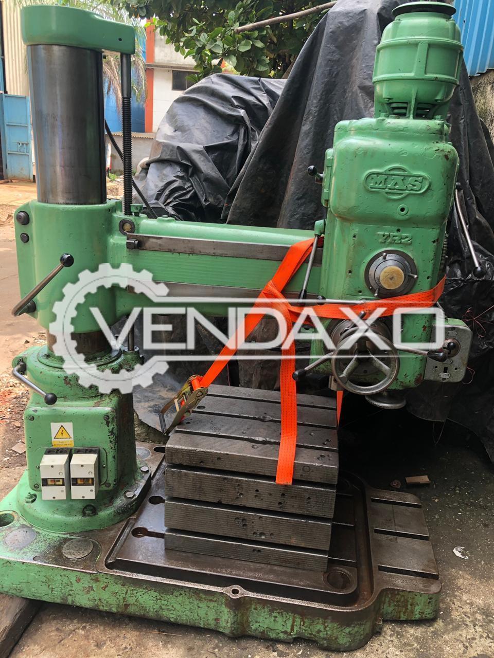 MAS VR 2 Radial Drill Machine - Drill Capacity : 35 mm