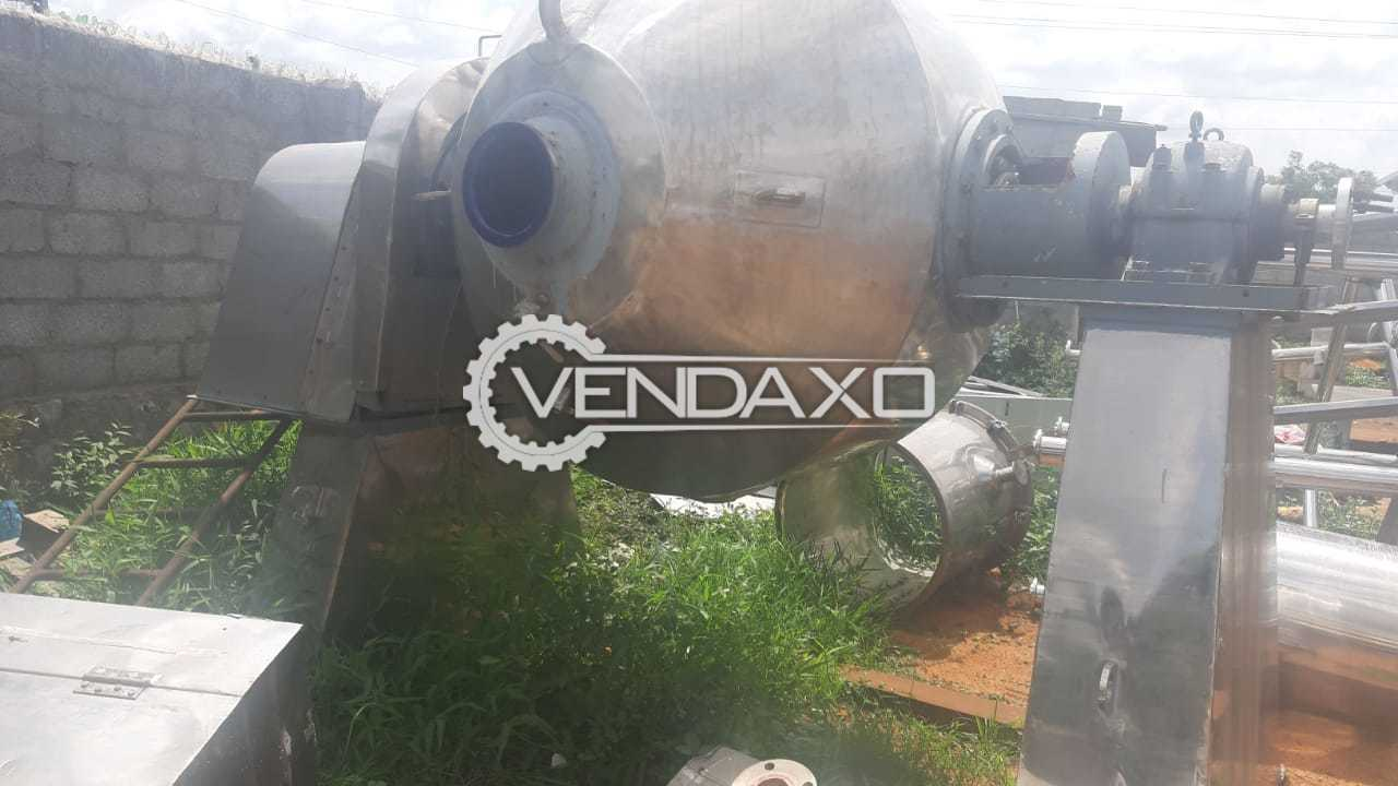 SS Glass Lined Roto Cone Vacuum Dryer (RCVD) - 1 KL