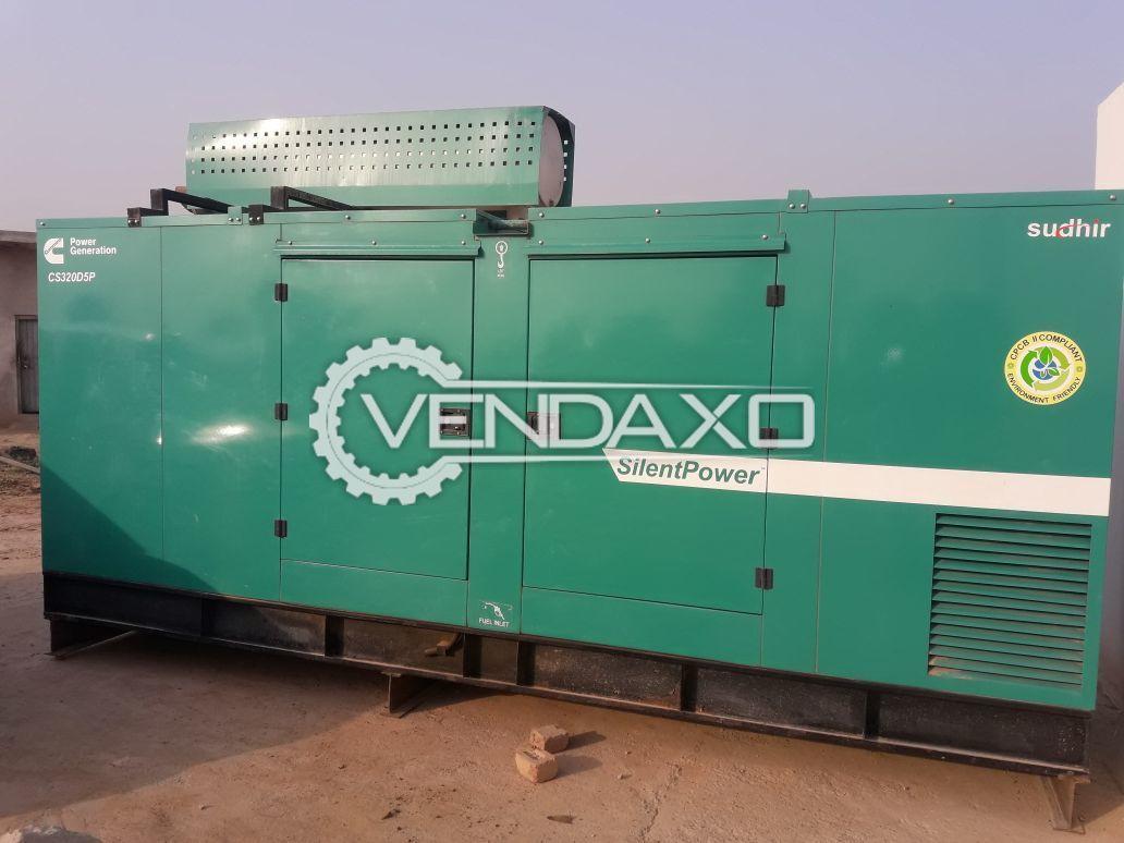 Cummins Diesel Generator - 320 kVA, 2016 Model