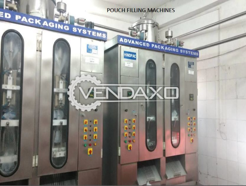 Pouch Packaging Machine With Ink Jet Printer, SS 304 Conveyor