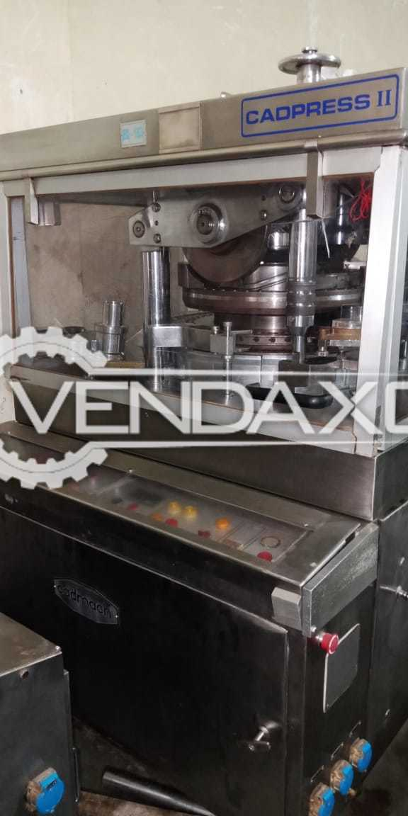 CADMACH CADPRESS II-45 B Tablet Compression  Machine - 45,000 To 50,000 Tablets /Hour