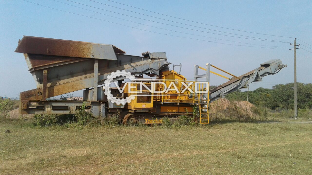 Track Stack Make 6035T Impactor Jaw Crusher - 125 to 150 MT Per Hour, 2011 Model