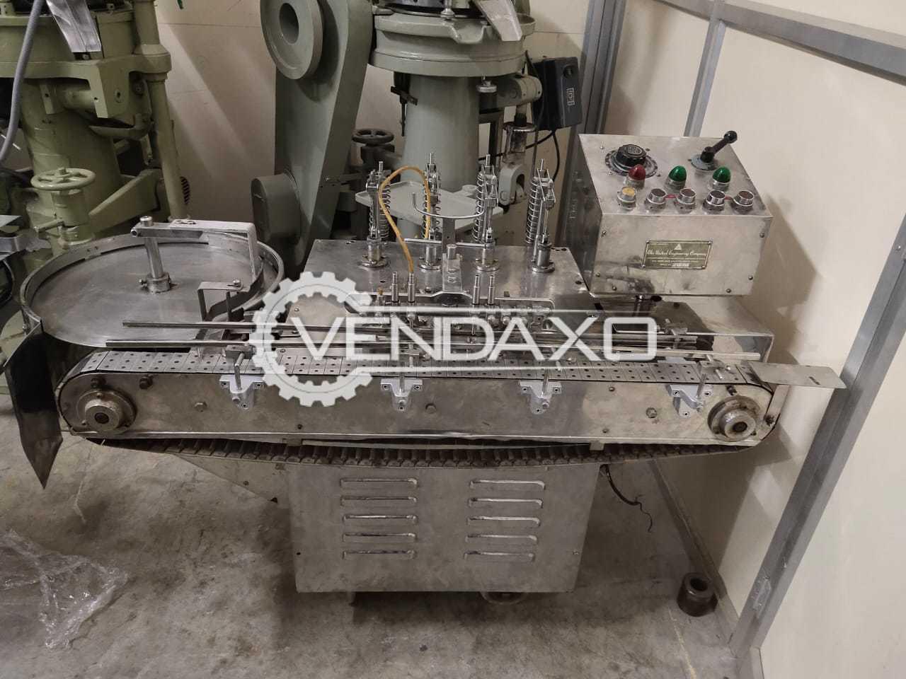 United Engineering Make 4 head Vial Filler - 20 ML, GMP Model