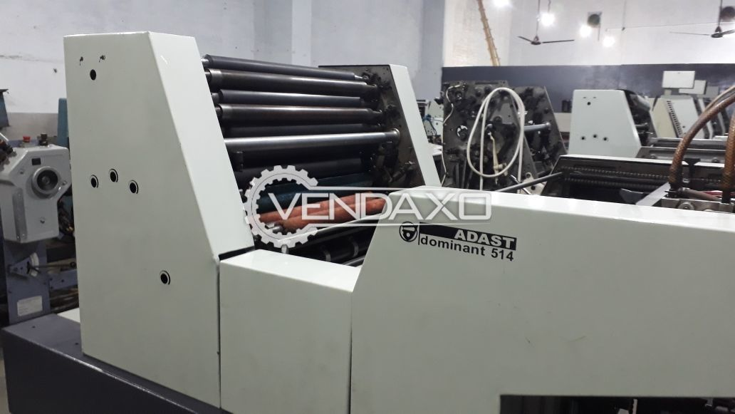 Adast dominant 514 offset printing machine
