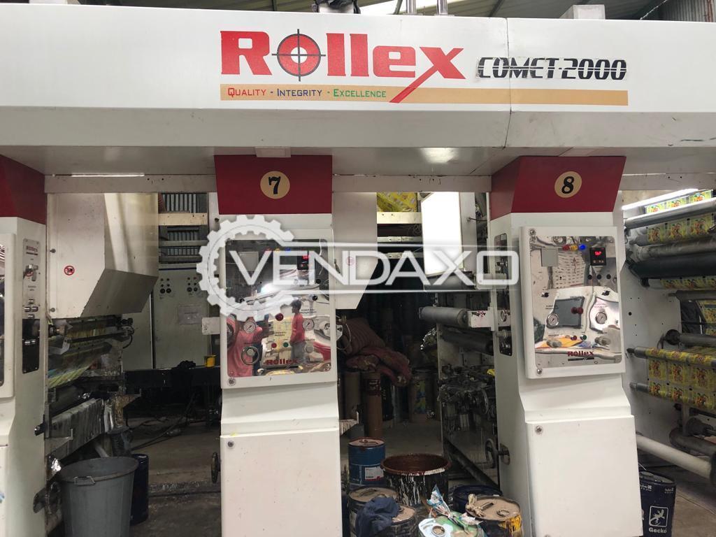 Rollex Comet-2000 Rotogravure Printing Press Machine - Width - 1050 mm, 2018 Model