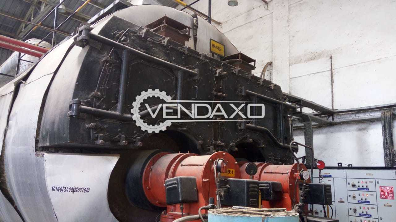 Horizontal Fired Tube Steam Boiler - Working Pressure - 16.625 KG/Cm2