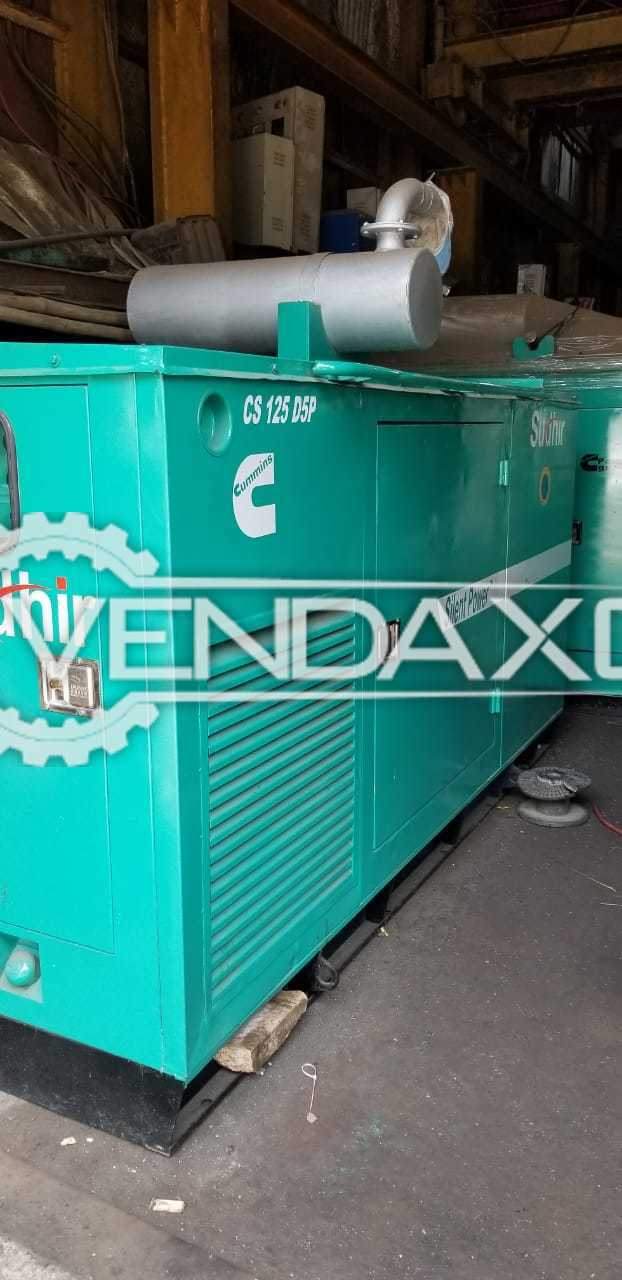 Kirloskar CS 125 D5P Diesel Generator - 125 kVA, 2008 Model