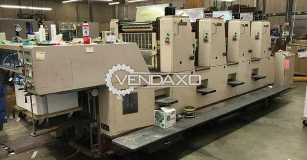 Shinohara 66 IVH Offset Printing Machine - 19 x 26 Inch, 4 Color