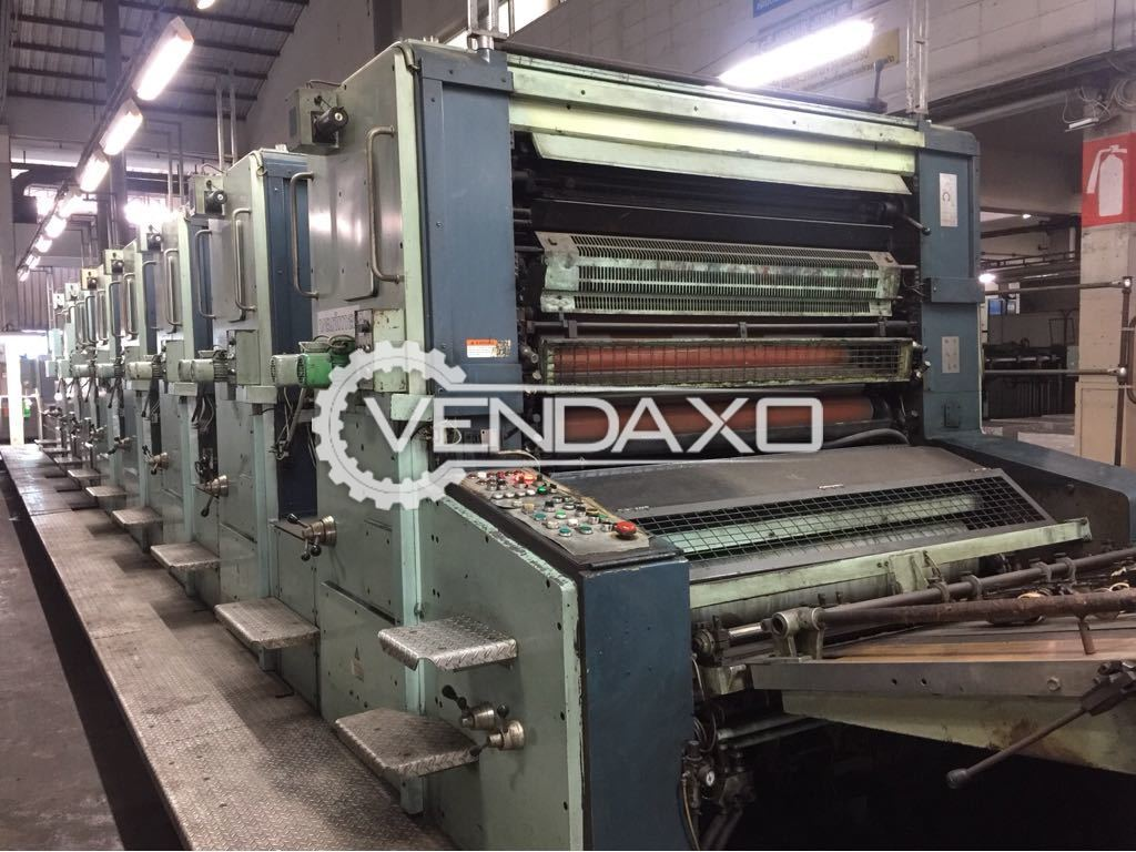 KBA Planeta Variant P 67 Offset Printing Machine - 40 x 56 Inch, 7 Color