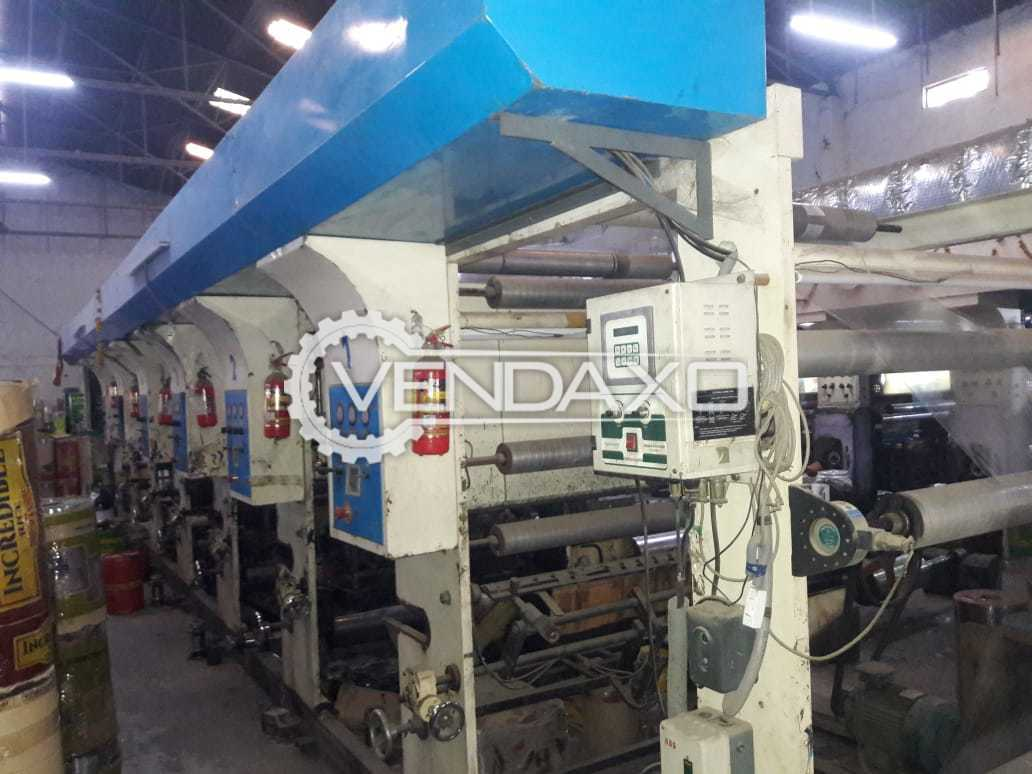Canara Flex Rotogravure Printing Machine - Width - 1050 mm, 6 Color