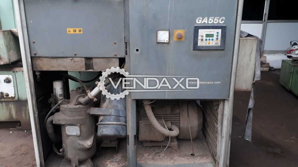 Atlas Copco GA55C Air Compressor - 55 kW, 2003 Model