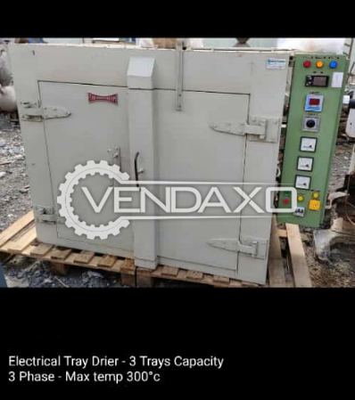 Indian Make Electrical Tray Dryer - 3 Tray