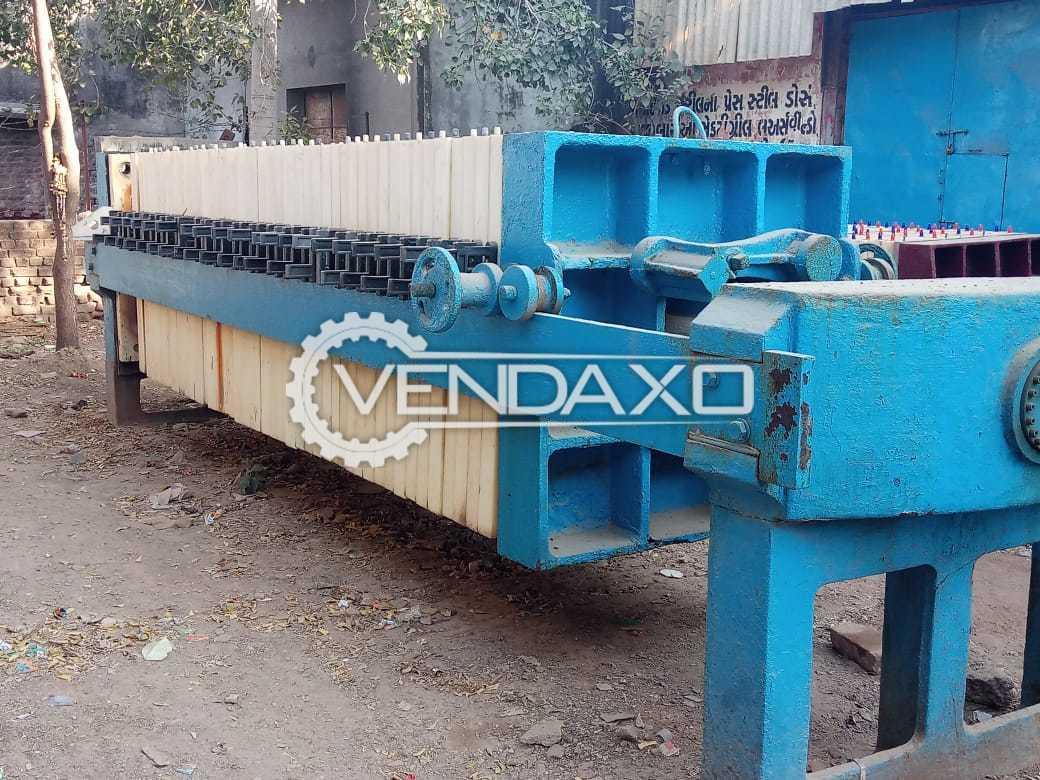 "BMT Make Hydraulic PP Filter Press - 48"" x 48"", 48 Plates"