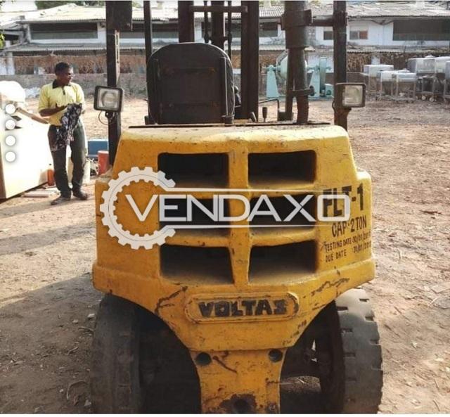 Voltas make Diesel Forklift - 2 Ton