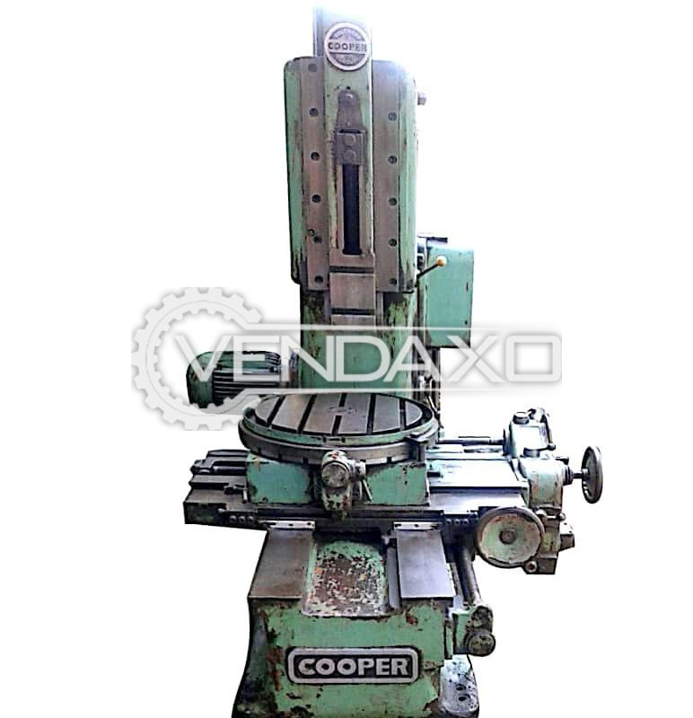 Cooper Make Slotting Machine - Stroke : 250 mm