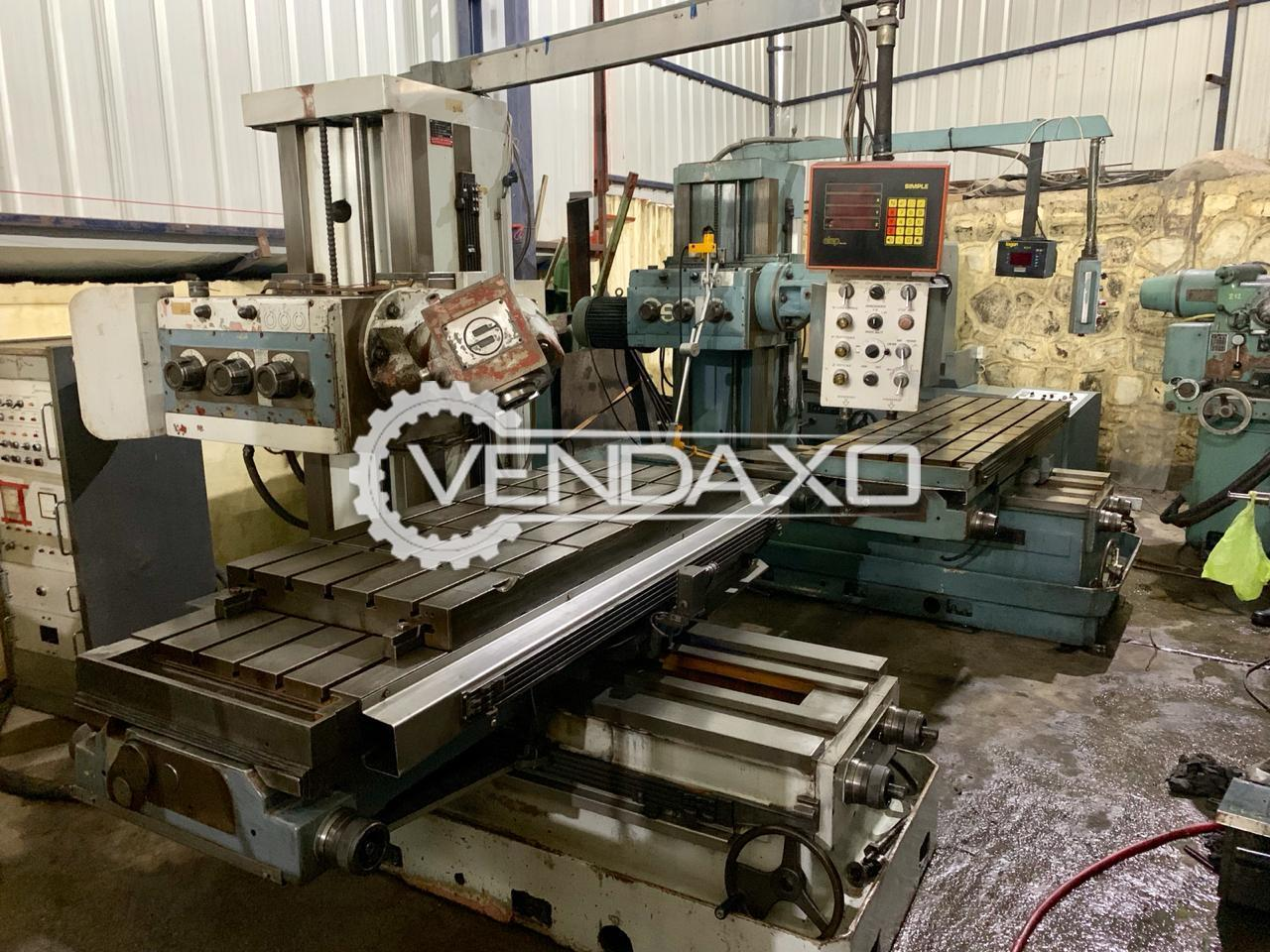 Secmo Make Universal Vertical Head Milling Machine - Table Size : 2000 x 700 mm