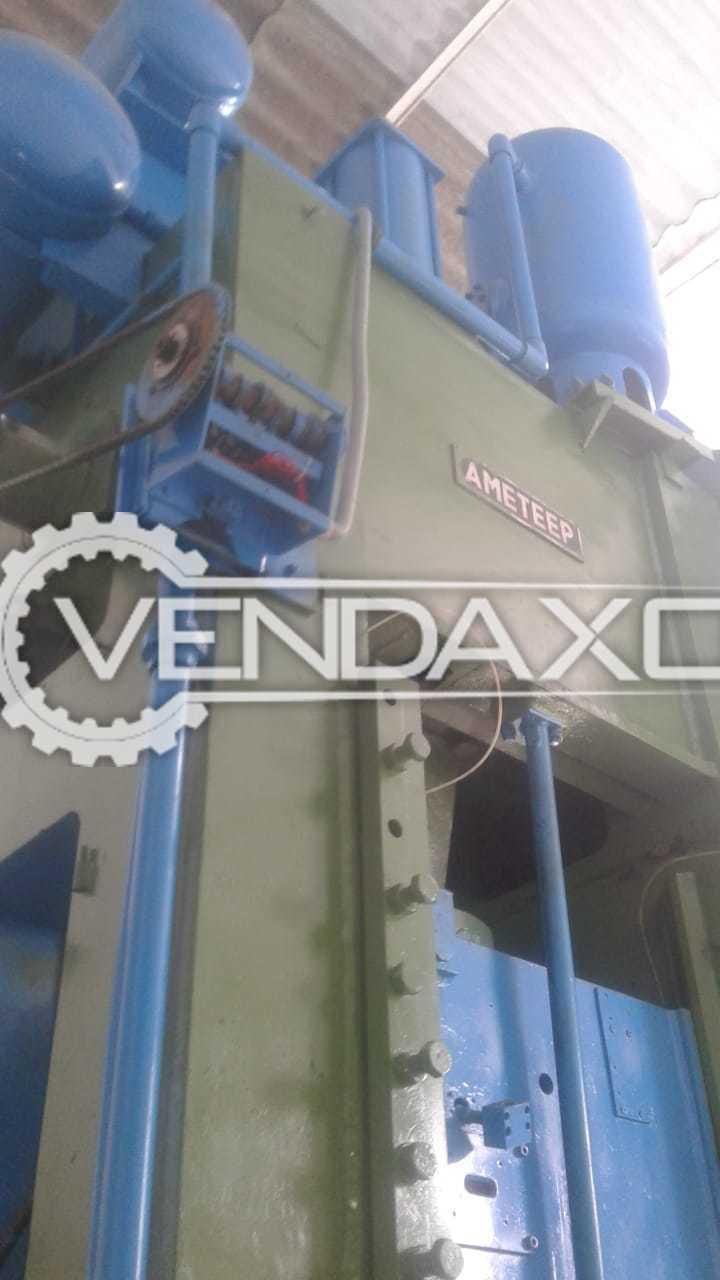 Ameteep Make Pneumatic Clutch Type Power Press Machine - 300 Ton