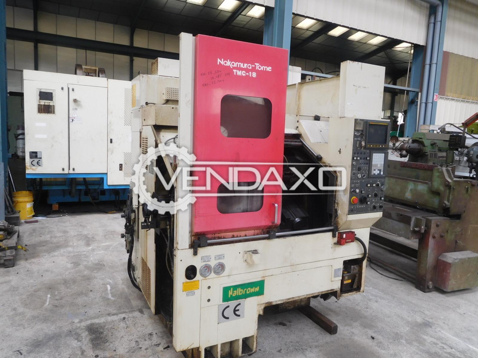 Nakamura TMC18 CNC Lathe Machine - Max.Turning Diameter : 280 mm
