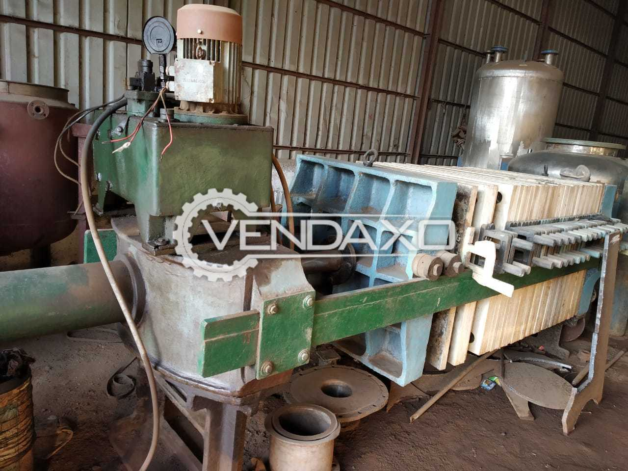 Indian Make Hydraulic PP Filter Press - 36 Inch, 40 Plates