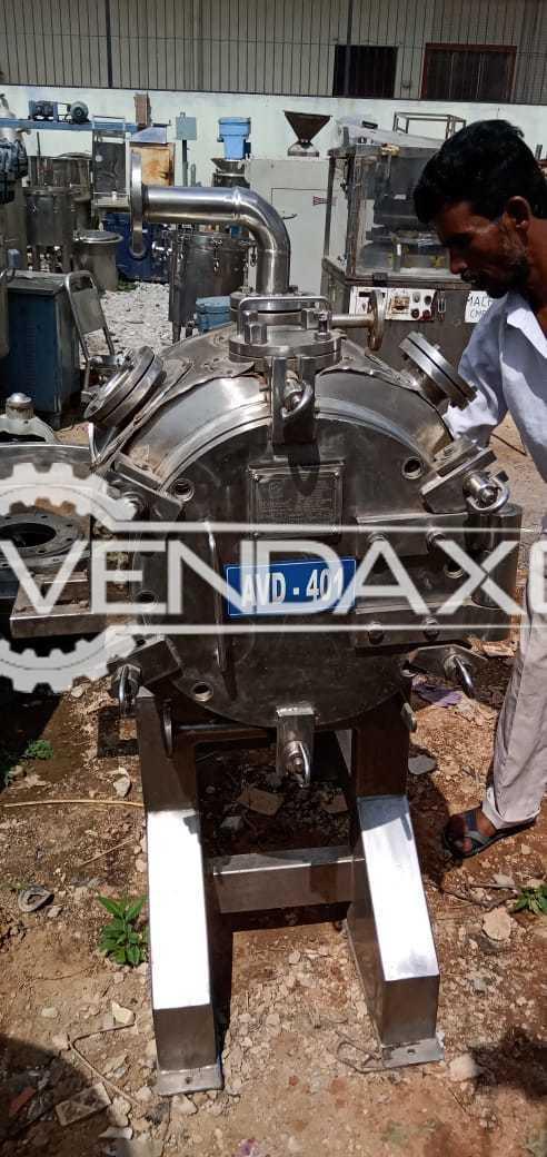 Chemac Make Agitated Vacuum Dryer (AVD) - 25 Liters