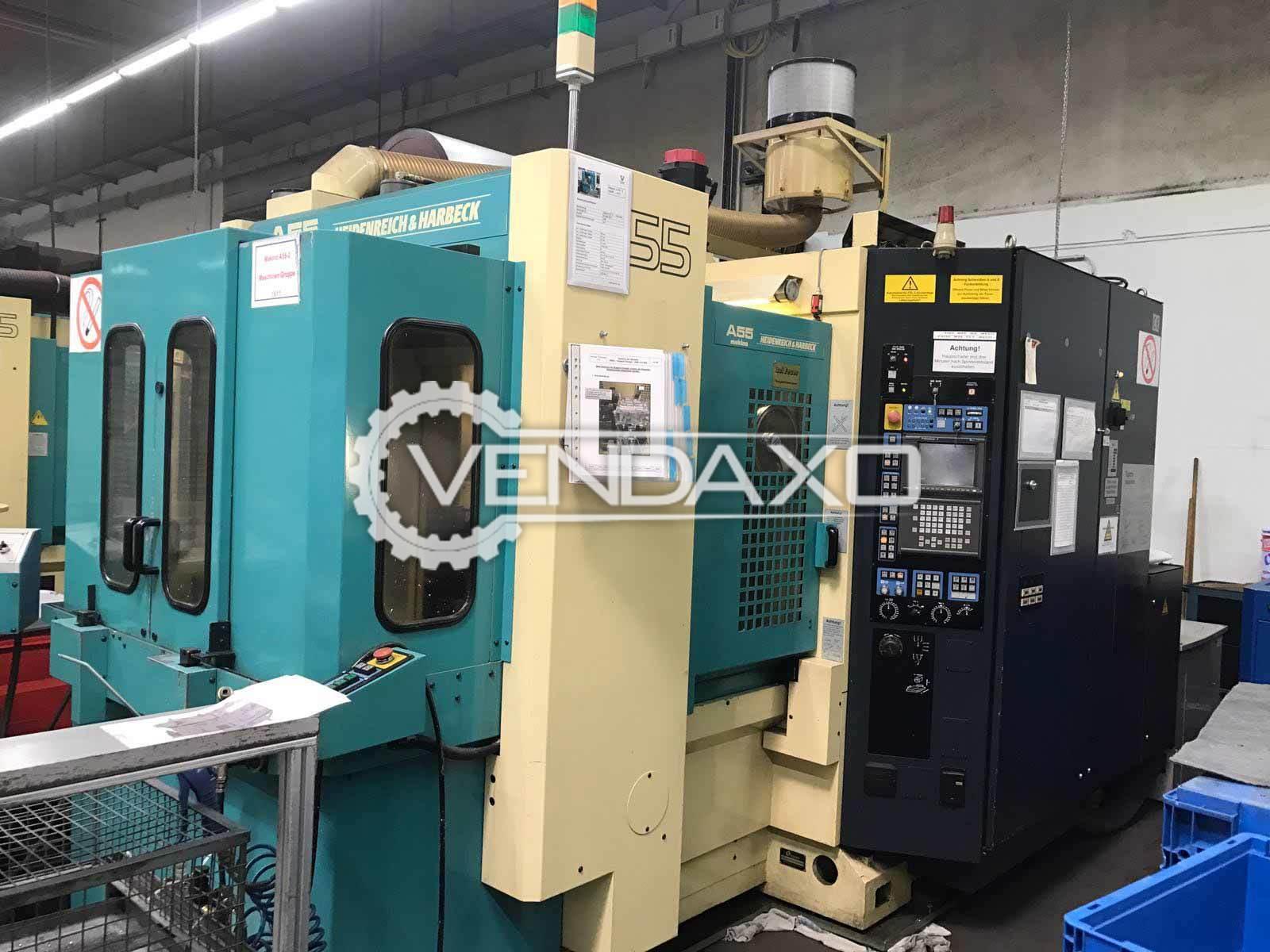 Makino A55 CNC Horizontal Machining Center-HMC - Pallet Size : 400 x 400 mm