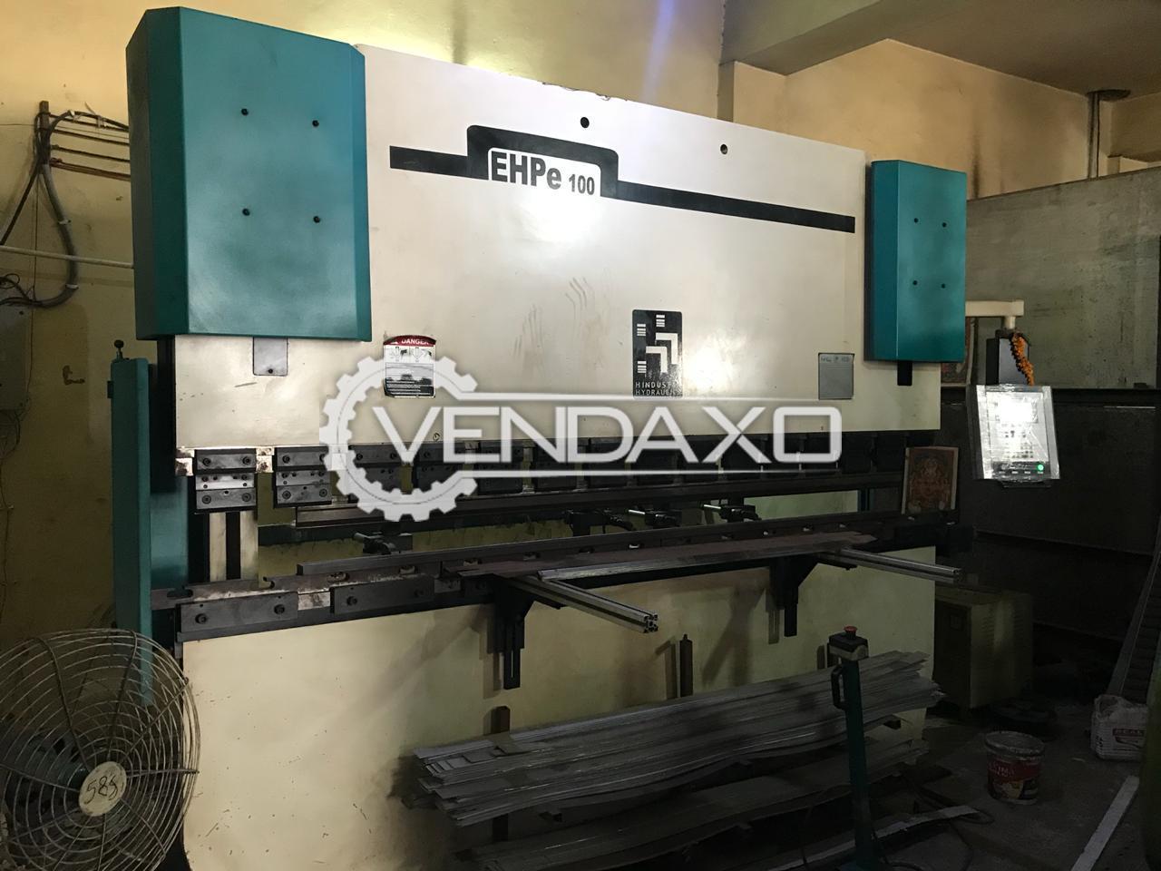 Hindustan Hydraulic EHPE100 CNC Press Brake Machine - 100 Ton, 3 Meter Sheet