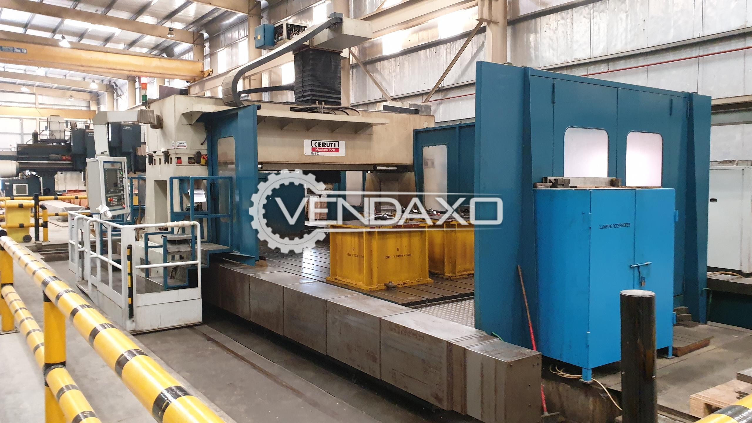 Innse Berardi Ceruti 33-8000 CNC Gantry Type Milling Machine - Table Size : 8000 x 3000 mm