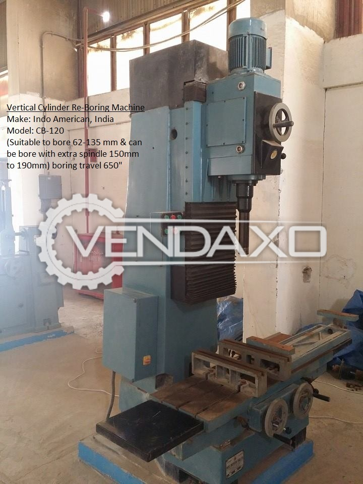 Used CB 1200 Vertical Cylinder Re-Boring Machine - 62 MM to