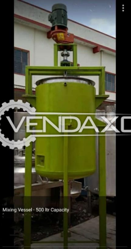 Indian Make Mixing Vessel - 500 Liter