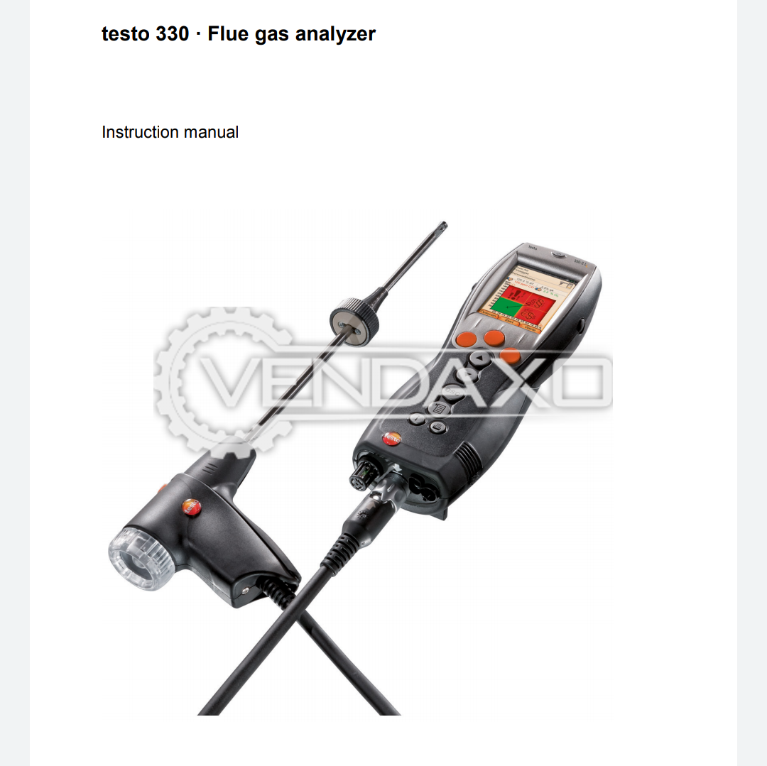 Testo 330-1 LL Flue Gas Analyser - 600 Celsius