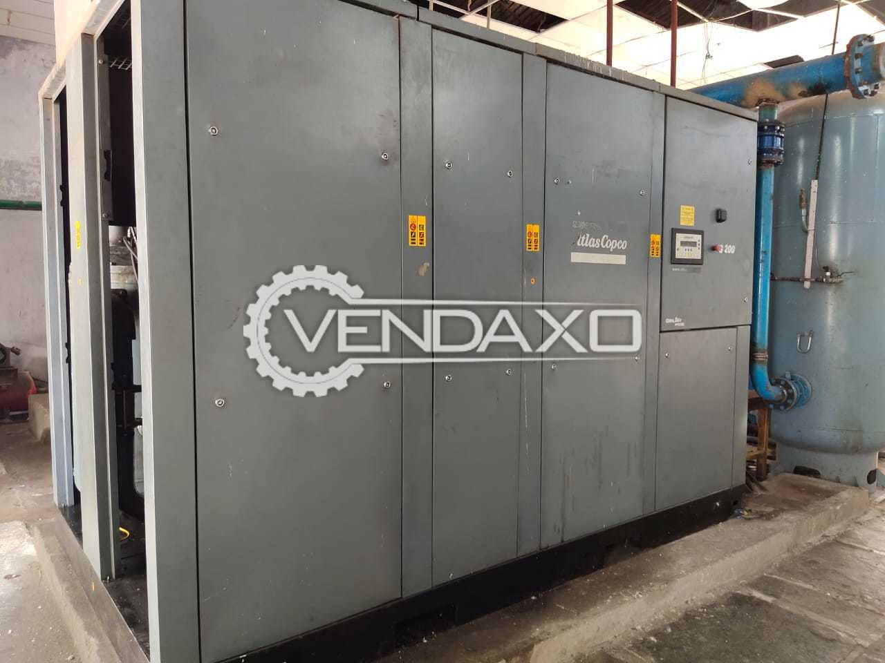 Atlas Copco G200 Rotary Screw Air Compressor - 200 KW